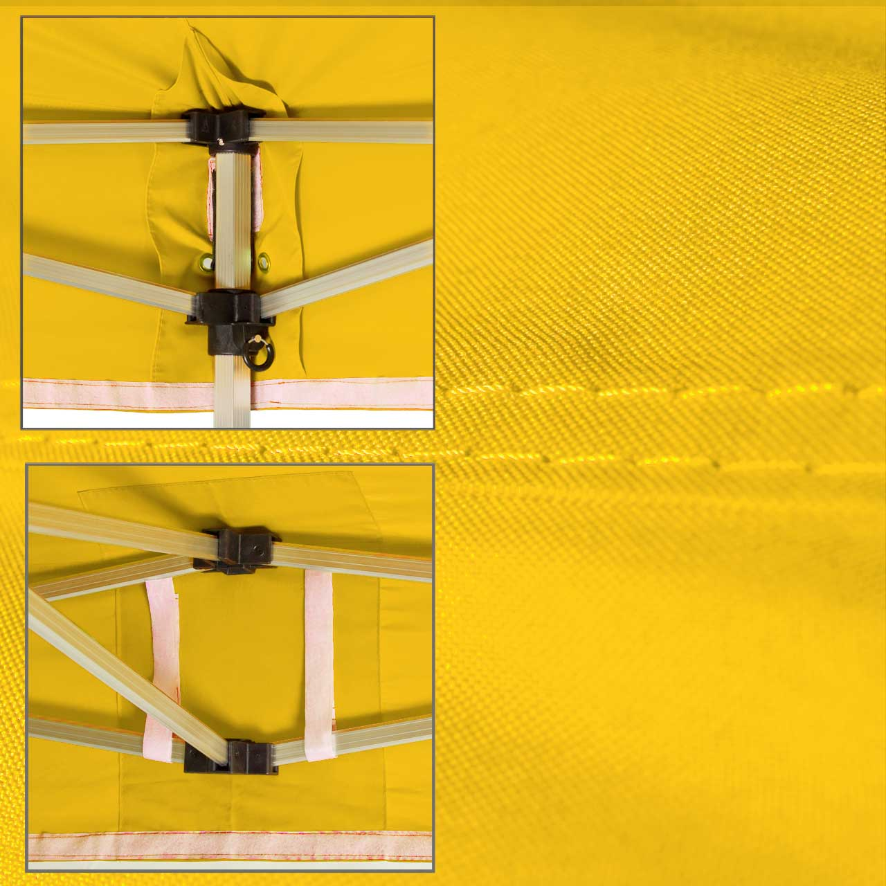 Faltpavillon-gelb-Dachplane