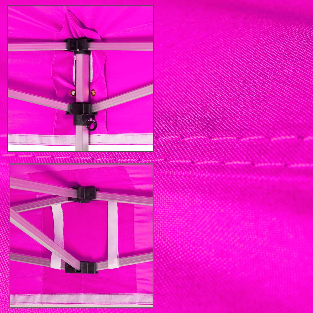 Faltpavillon-Dach-Pink