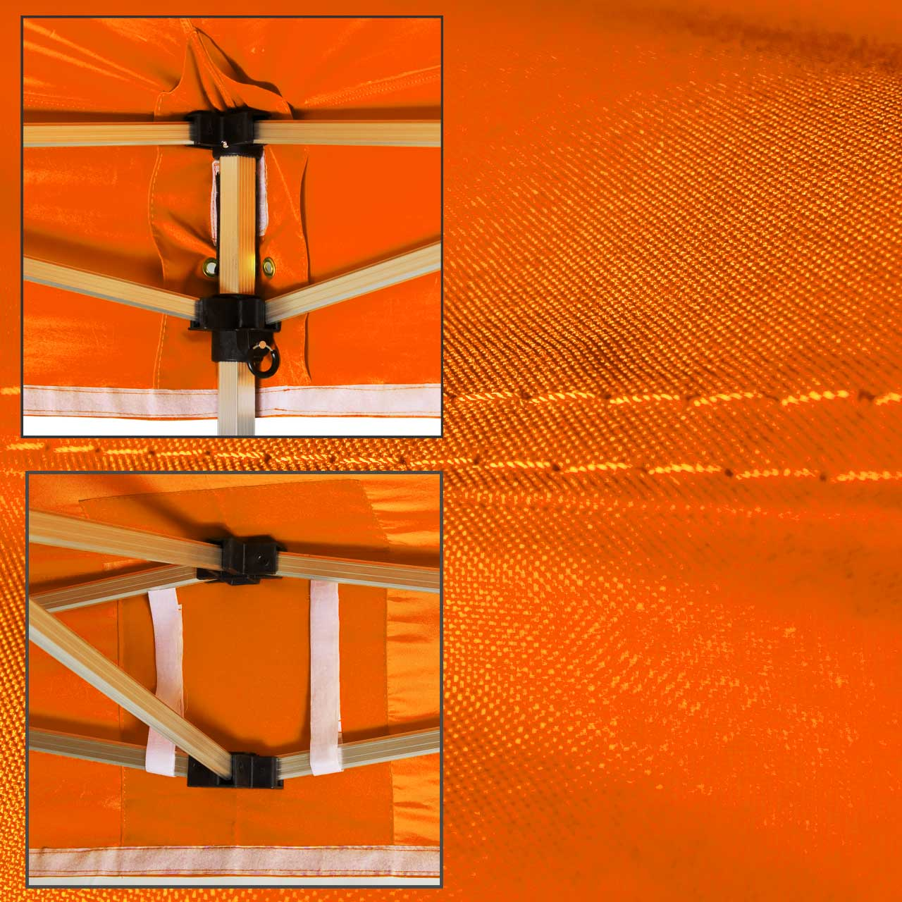 Faltzelt-Dach-Orange
