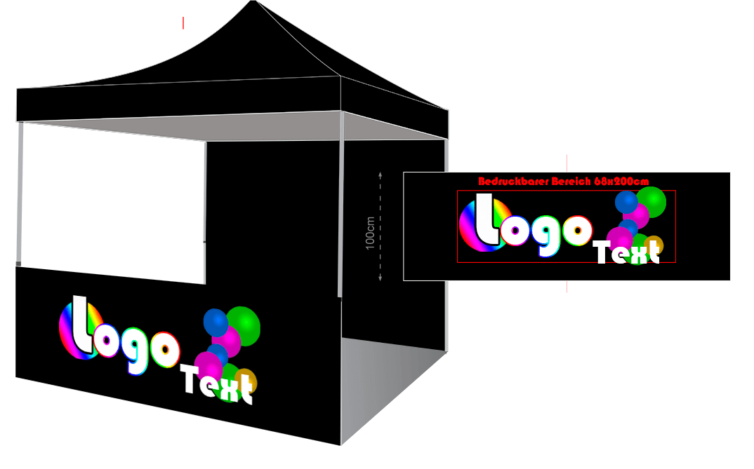 Faltpavillon-Werbedruck-Halbwand-01