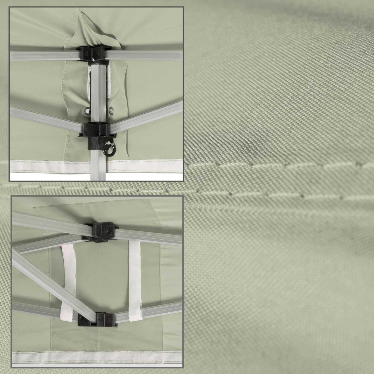 Faltpavillon-Dach-grau