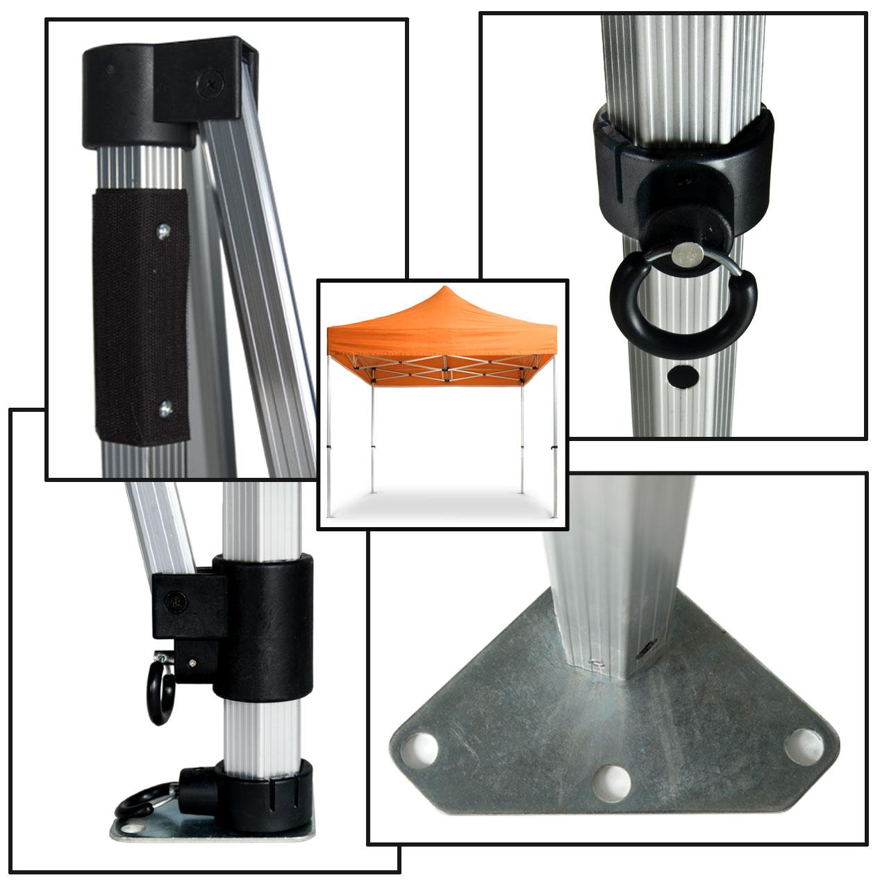 Faltpavillon-Konstruktion-40mm-orange