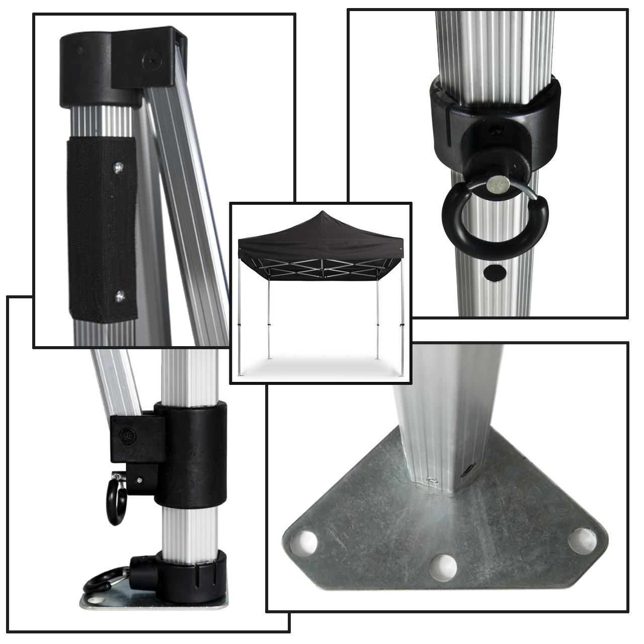 Profifaltpavillon-Konstruktion-schwarz-40mm