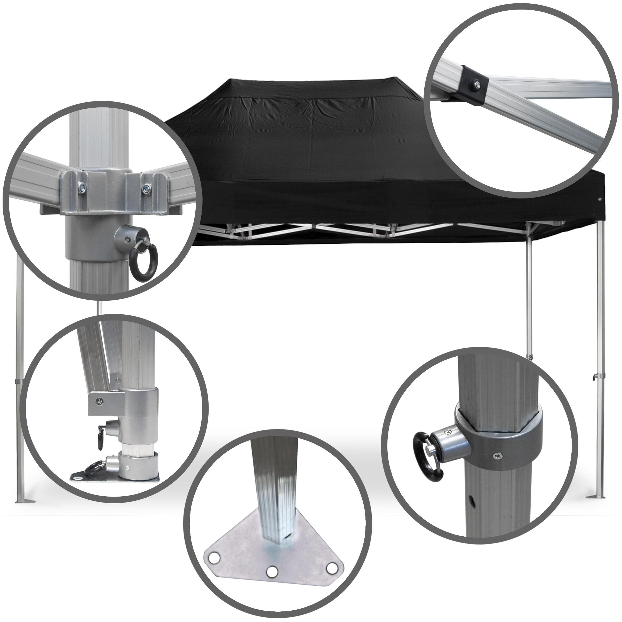 Faltpavillon-3x4-5-schwarz-Konstruktion