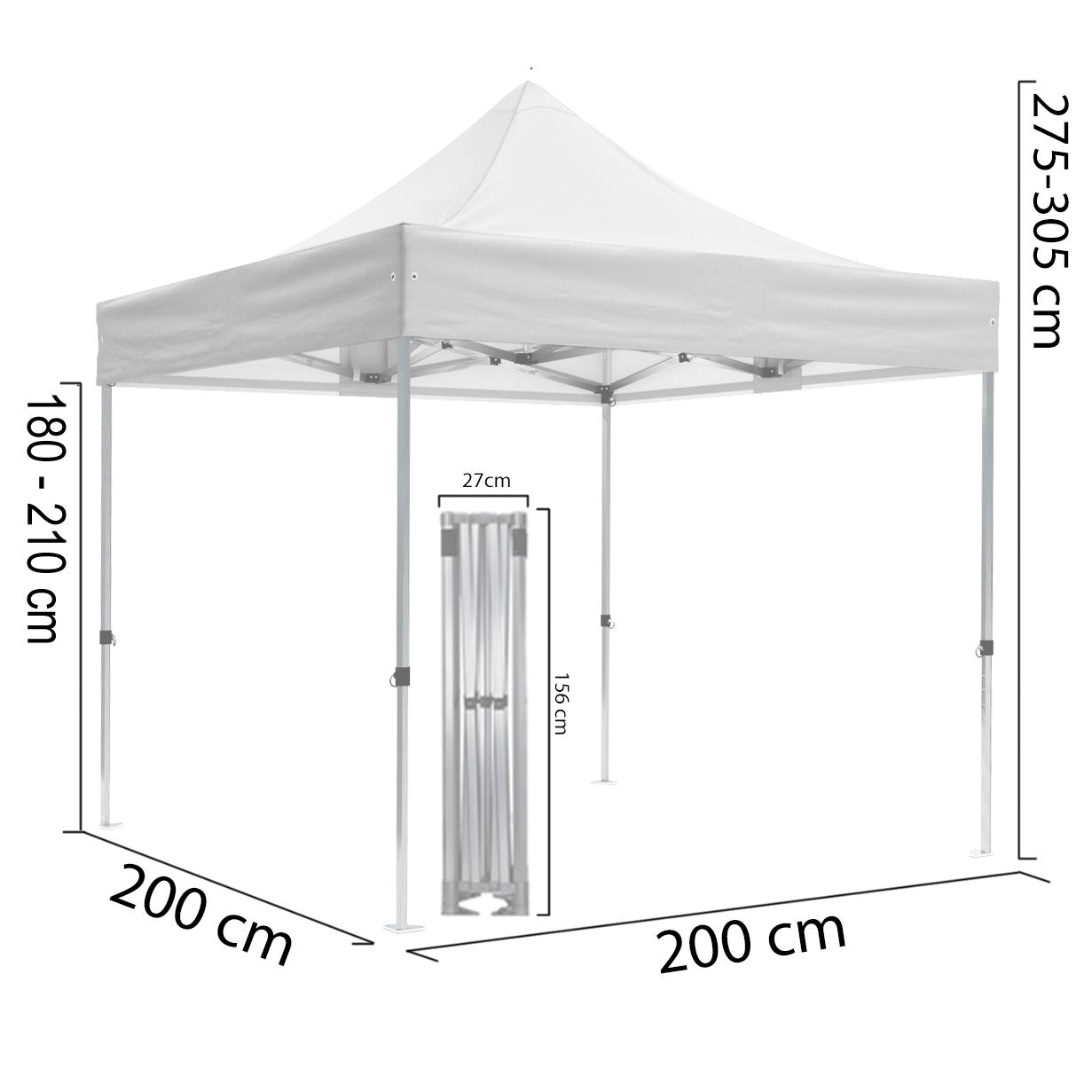 Duratent-Faltzelt-2x2m