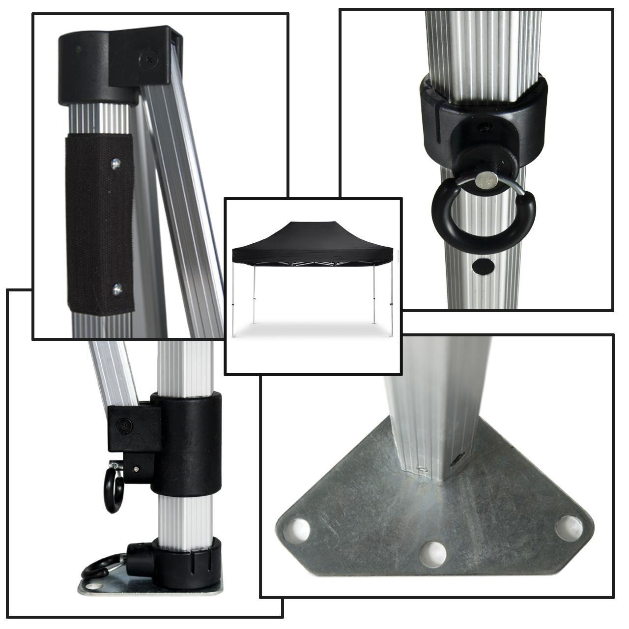 Faltpavillon-Konstruktion-40mm-schwarz